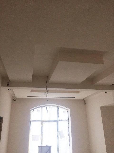 формирование потолка из гипсокартона